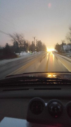 Sunset on the road 2017