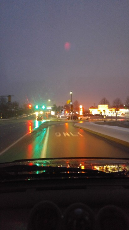 Love the light reflecting off the road after a rain.