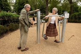 oldpeople on playground