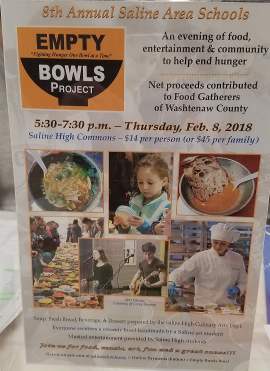 Empty Bowls 2018 Flyer
